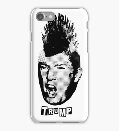Trump Is The New Punk (Black Graphic) iPhone Case/Skin