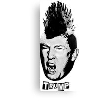 Trump Is The New Punk (Black Graphic) Canvas Print