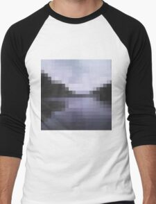 Ireland's dark lake in pixels Men's Baseball ¾ T-Shirt
