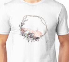 Sleepy Fox in Color Unisex T-Shirt