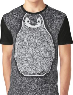 Abstract Penguin Graphic T-Shirt