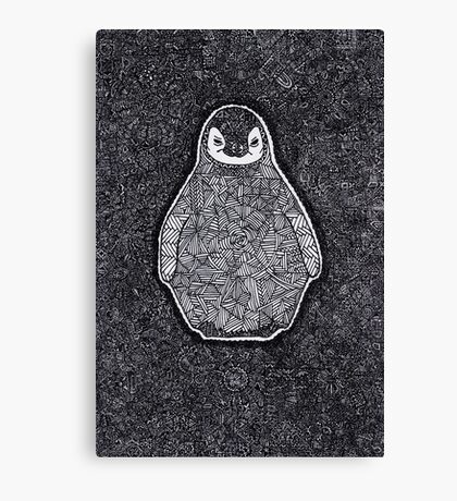 Abstract Penguin Canvas Print