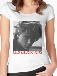 RIVER PHOENIX Women's Fitted Scoop T-Shirt