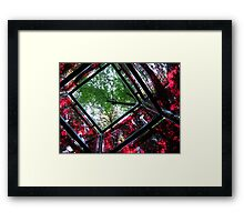 square cube of nature Framed Print