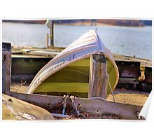 Chartreuse Boat Poster