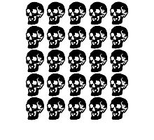 Black Skulls  Photographic Print