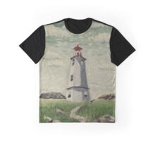 Louisbourg Lighthouse Graphic T-Shirt