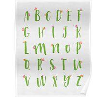 Cactus Alphabet Poster