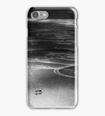 B&W sidewalk art iPhone Case/Skin