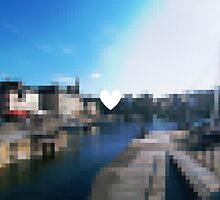 A french harbour with pixels by Margotte