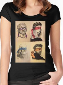 TMNT Tribute Women's Fitted Scoop T-Shirt