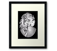 Claire and the moon Framed Print