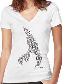 Spa de Francorchamps Women's Fitted V-Neck T-Shirt