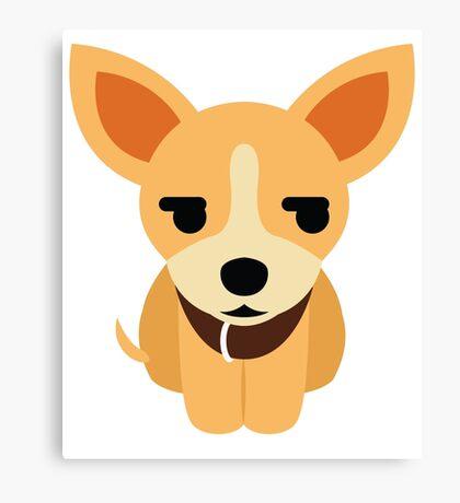 Chihuahua Emoji Secretly Unhappy Look Canvas Print