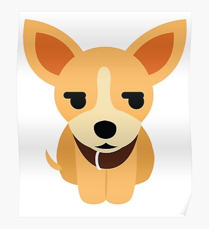 Chihuahua Emoji Secretly Unhappy Look Poster