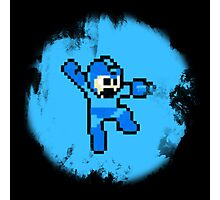 Mega Man Jumps and Shoots Photographic Print