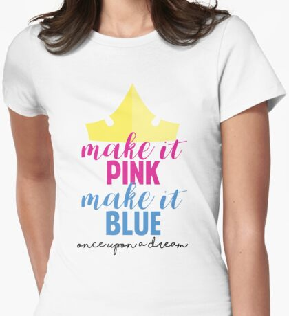 Make it Pink, Make it Blue inspired by Disney's Sleeping Beauty by Last Petal Tees Womens Fitted T-Shirt