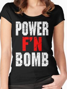 F'N POWERBOMB! Women's Fitted Scoop T-Shirt