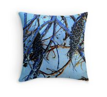 Blue Banksia Throw Pillow