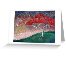 The Flamboyan Before Dusk Greeting Card