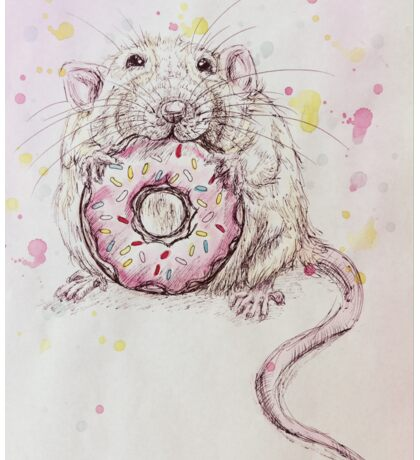 Cute Rat/Mouse Eating Donut Sticker