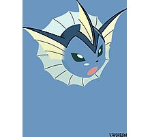 game faces: vaporeon (battle) Photographic Print