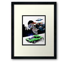 RACER ALIEN Framed Print