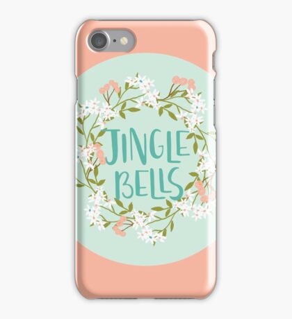 Jingle Bells - Pink Christmas iPhone Case/Skin