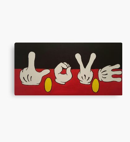 Mickey Mouse LOVE Canvas Print