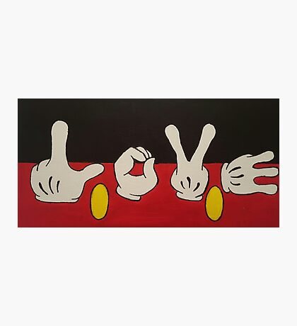 Mickey Mouse LOVE Photographic Print