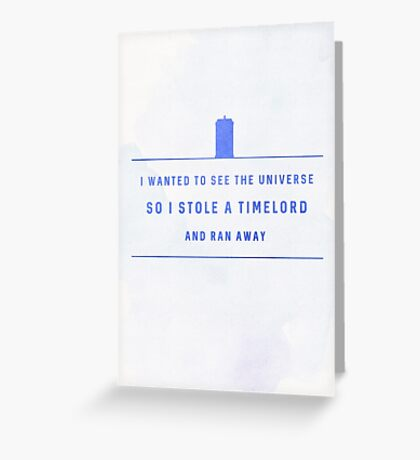 Stole a Timelord - Light Greeting Card