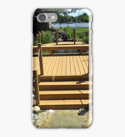 Beautiful Deck and Waterfall - k6055 iPhone Case/Skin