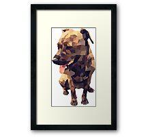 Geometric Dog Framed Print