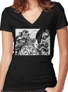 HALLOWEEN NIGHT Women's Fitted V-Neck T-Shirt