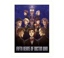50 Years of Doctor Who Art Print