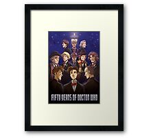 50 Years of Doctor Who Framed Print