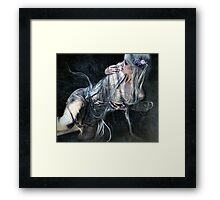Dark Grow My Thoughts Framed Print