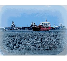 Freighter Coming Through - 6063a Photographic Print