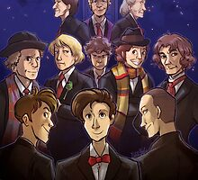 "Doctor Who Medley (""50 Years of Doctor Who"" without Captions) by kynimdraws"