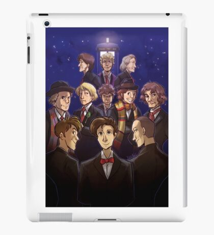 """Doctor Who Medley (""""50 Years of Doctor Who"""" without Captions) iPad Case/Skin"""