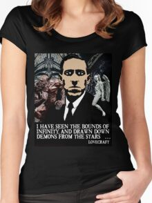LOVECRAFT DEMONS Women's Fitted Scoop T-Shirt
