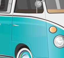 Split VW Bus Teal Samba Bus Sticker