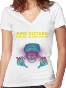 King Gizzard Fans Women's Fitted V-Neck T-Shirt