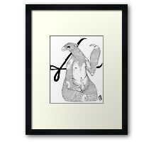 Gentle Giant and Flame Child Framed Print