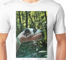 I LEFT FOOTPRINTS IN YOUR HEART EVEN WHILE IM SLEEPING>>LIFE IS PRECIOUS>>DOG -CANINE PICTURE AND OR CARD EC. Unisex T-Shirt