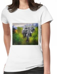 Uganda: Slick Ivory Womens Fitted T-Shirt