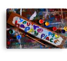 you're my happy place Canvas Print