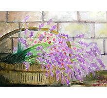 Lavender Basket Photographic Print