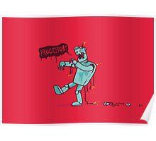 Zombie Robot Poster