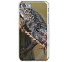 Fencing Lizard iPhone Case/Skin